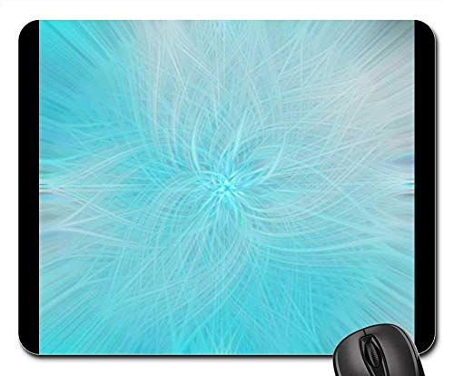 Mauspad - Rosette Blue Abstract Wallpaper