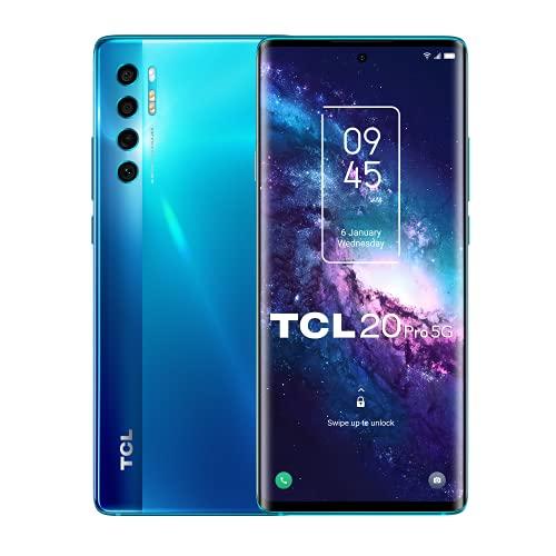 TCL 20 Pro 5G 256GB - Smartphone de 6.67' AMOLED FHD+ con NXTVISION (Snapdragon 750G 5G, 6GB/256GB Ampliable MicroSD, Dual SIM, Cámaras 48MP+16MP+5MP+2MP, Batería 4500mAh, Android 11) Azul