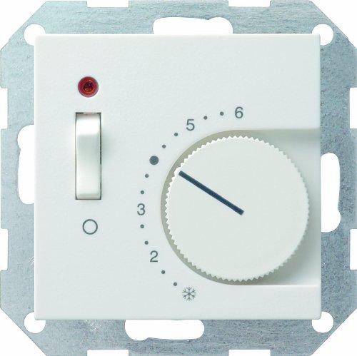 Gira 039227 RTR 230 V mit Öffner mit Schalter System 55, reinweiß matt