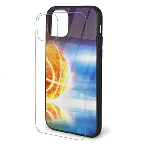 DAWN&ROSE - Carcasa para iPhone 11 y iPhone 11 (poliuretano termoplástico), diseño de balón de baloncesto quemado