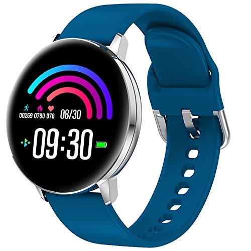 TD28 Smart Kijk Bloeddrukmeting Waterproof Smartwatch Mannen Vrouwen Heart Rate Oxygen Monitor Whatsapp Reminder Watches,Blue