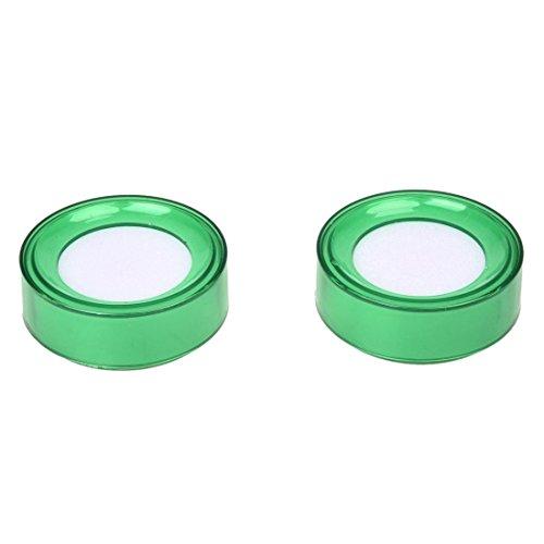 SODIAL(R) 2 piezas de Esponja de mojado de dedo para dinero cajero plastico verde de 7 cm...