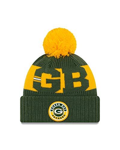 New Era Green Bay Packers Sideline 2020 Mütze Beanie NFL Football Grün - One-Size