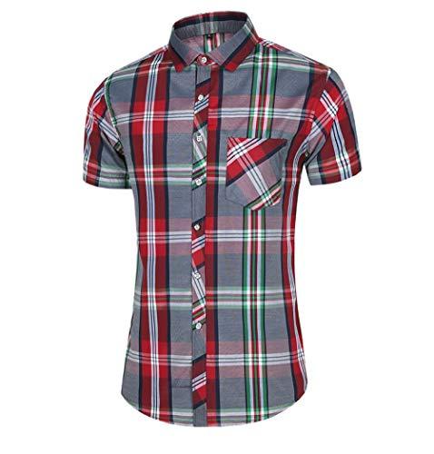SHENSHI Camisetas Hombre,Camisa De Vestir De Negocios Ropa De Trabajo para Hombres Nuevos, Rojo Vino, 4X, Grande