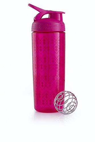 Blender Bottle Signature Sleek - Protéine Shaker / Bouteilled'eau 820ml Rose Geo Lace