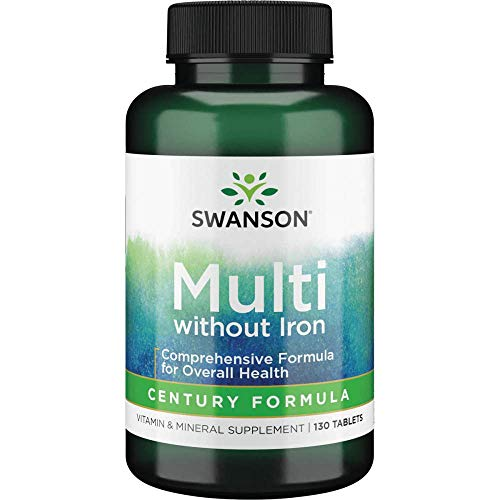 Swanson Multi Without Iron Century Formula Supplement 130 Tablets