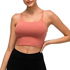 √KINDLY NOTE: S fit for 30A 30B 30C 32A 32B ; M fit for 30D 30DD 32C 32D 34A 34B ; L fit for 32DD 34C 34D 34DD 36A 36B 36C; XL fit for 36C 36D 38A 38B 38C √[Pads] Padded sport bra with removable pads for convenient adjustment, with a cotton-like mate...
