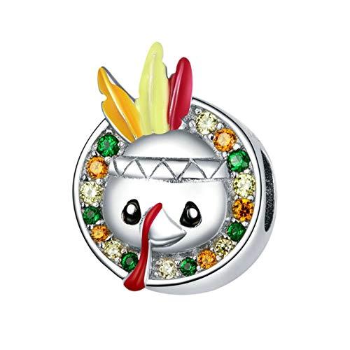 HMMJ Granos encantos, S925 Sterling Silver DIY Diveria Turquía Pendiente Hecho a Mano para Pandora Troll Chamilia Charm Pulsera Collares