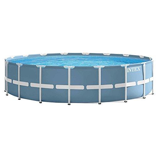 INTEX 28752UK 18 ft x 48-Inch Prism Frame Pool Set - Light Blue