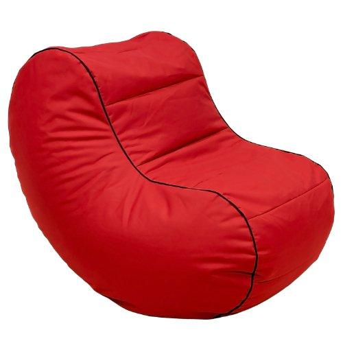 Lumaland Luxury Lounge Chair Sitzsack stylischer Beanbag 320L Füllung Rot