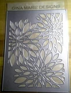 Gina Marie Metal Cutting Paper Craft die - Flower Burst Trio Background Plate