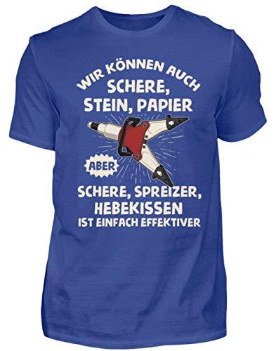 Feuerwehr - Schere Spreizer Hebekissen - Geschenk für Feuerwehrleute - Herren Shirt -M-Royalblau