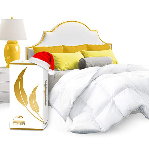 Cocoon Real Luxury Down Comforter Queen | 100% Egyptian Cotton 1200 Thread Count...