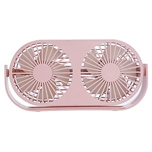 SHAIRMB Ventilador USB Ventilador Mesa PortáTil para Escritorio, Ventilador RotacióN 360 Grados, para Oficina en Hogar, Viajes, Acampada, Ventilador Interior Aire Libre,Rosado,USB Models