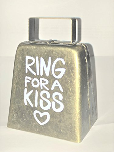 Ring For A Kiss Brass Metal Bell, Bride, Groom, Kissing, Reception, Shower, Engagement, Party, Game, Valentine Party, Anniversary, Party Games, Couples, Showers, Fun Activity, Romantic,