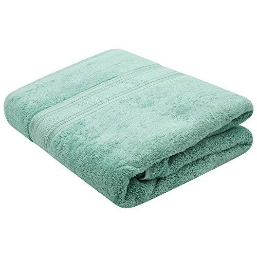 Sasma Home -Toalla de baño jumbo de lujo de 700 GSM (100x170 cm) Toalla de baño 100% algodón altamente absorbente - Toalla de baño extragrande de secado rápido súper suave (verde mar)