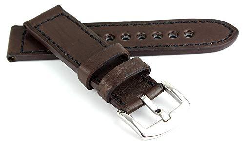 RIOS1931 Belfast Vintage rundleer horlogeband handgemaakt in Duitsland robuust,