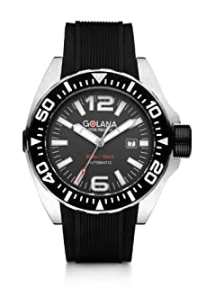 Golana Advanced Aqua Men's Automatic Watch with Grey Dial Analogue Display and Black Rubber Strap ADQ100-2 (B008GB2DV4)   Amazon price tracker / tracking, Amazon price history charts, Amazon price watches, Amazon price drop alerts