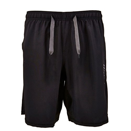 Push Apparel Men's Above Knee 19 inch Stretch Unbreakable Pro Workout Shorts Black