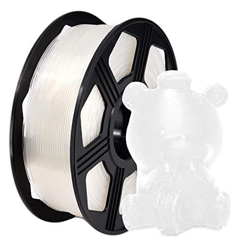 YOYI Filament PLA 1.75mm,PLA Filament 1.75mm,3D Drucker Filament 1.75mm pla 1kg Spool, Maßgenauigkeit +/- 0.02mm (Transparent)