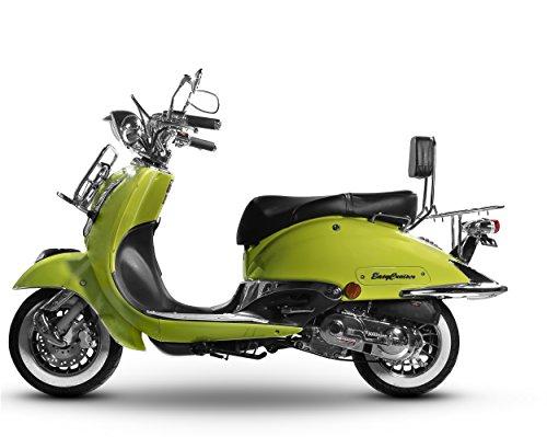 Sport Roller Carbono 125 ccm schwarz matt Motorroller Scooter Moped Mofa Sportroller