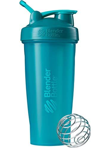 BlenderBottle Classic Loop Shaker mit BlenderBall, optimal geeignet als Eiweiß Shaker, Protein Shaker, Wasserflasche, Trinkflasche, BPA frei, skaliert bis 600 ml, 820 ml, teal