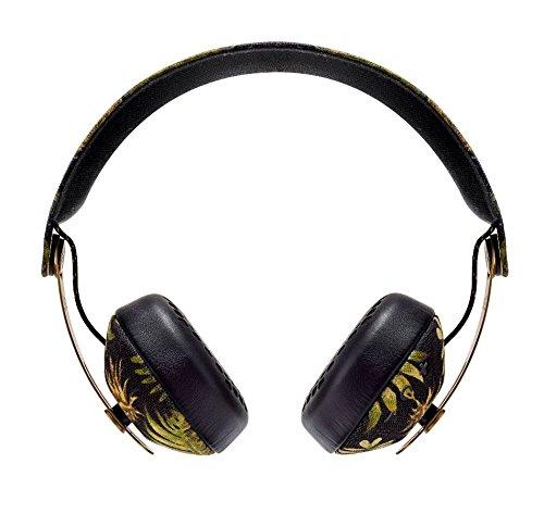 House of Marley Rise BT - Cuffie senza fili Bluetooth On-Ear Headphones, isolamento acustico, con custodia, driver Premium Sound 50mm, microfono integrato, ricarica USB, autonomia di 10 ore - Palm
