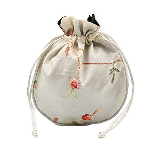 cdhgsh 1 Pieza Bolsa de Viaje de Seda Tradicional Bordado Chino clásico...