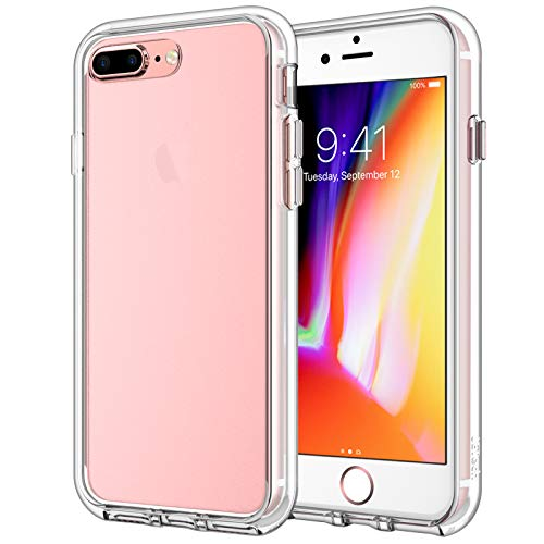 JETech Funda para iPhone 8 Plus / 7 Plus, Carcasa Anti-Choques y Anti-Arañazos, Transparente