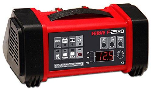 FERVE F-2520 Cargador Automático de Baterías de Plomo Ácido