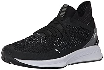 PUMA Men s Ignite Netfit Cross-Trainer-Shoes Puma Black-Quiet Shade-Puma White 10.5 M US