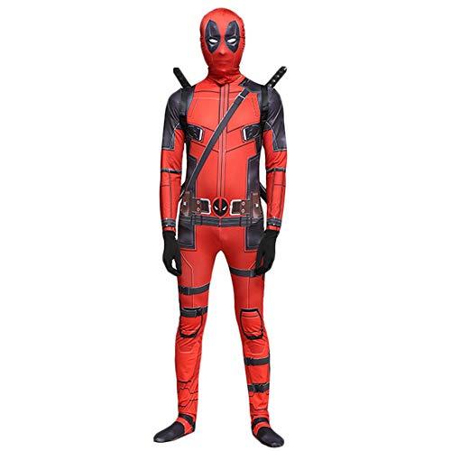 Deadpool Kostüm Superheld Cosplay Kleidung Kinder Erwachsene Film Kostüm Kleidung Frauen Männer Weihnachten Halloween Spiel Rollenspiel Siamesische Kleidung Zentai,Adult-S