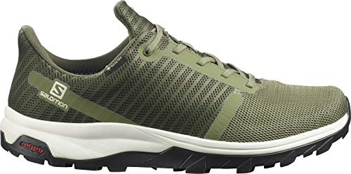 Salomon Herren Outbound Prism Gtx Track and Field Shoe, Olivgrün (Deep Lichen Green/Lunar Rock/Urban Chic) , 41 1/3