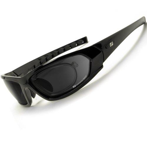 Daisan Sonnenbrille polarisierende Sportbrille mit Optik-Clip D 1061-5R