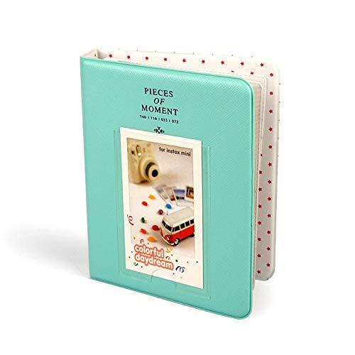 TFSYLISA Foto Album van het plakboek Mini Album for Foto van de baby 64 Pockets Picture Case for Fujifilm Instax Photo Album Wedding (Color : Green)