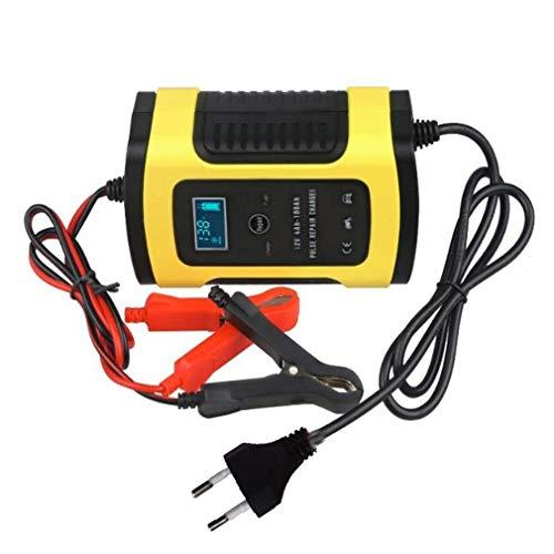 Nsdsb Reparación de Pulso de Motocicleta 12V 5A LCD Dispositivo de Carga de batería de Motocicleta Enchufe Amarillo de la UE