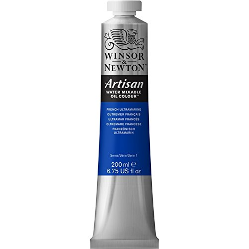 Winsor & Newton Artisan Water Mixable Oil Colour Paint, 200ml Tube, French Ultramarine