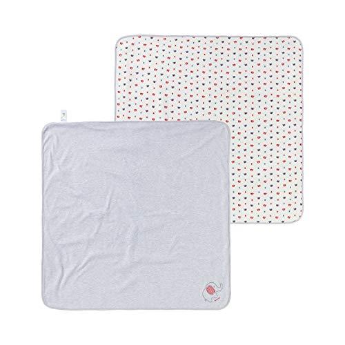 Bornino Couverture bébé réversible couverture douce couverture bébé, blanc