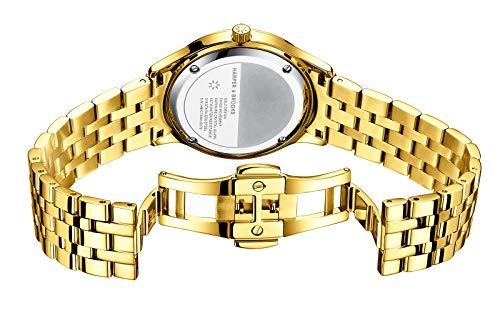 HARPER & BROOKS Women Watch, Swiss Movement, Sapphire Crystal, Bracelet Strap,Watches for Women