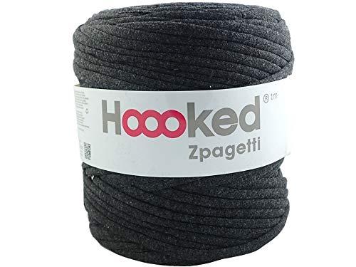 Hoooked Zpagetti T-Shirt-Garn, Baumwolle, 120 m, 700 g, Anthrazitgrau