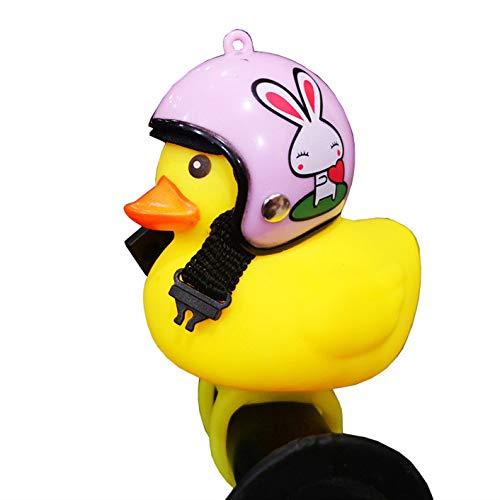 Kinder Fahrradhupe, niedliche Fahrradlichter für Kinder, Kleinkinder, Erwachsene, Radfahren, leichte Gummiente Spielzeug, Clip am Lenker Style #4