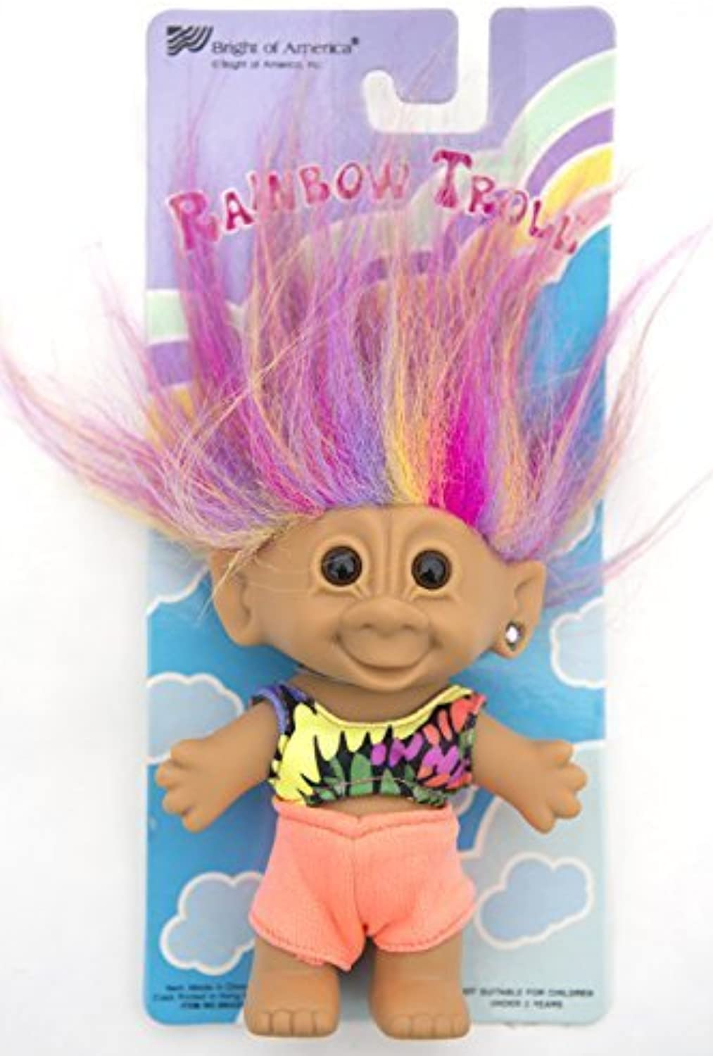 My Lucky Rainbow 6  Troll Doll - Summer Outfit by Bright of America