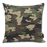 Nicegift Camouflage Military Abstract Camo Weiche Baumwolle Leinen Kissenbezug Kissenbezüge...