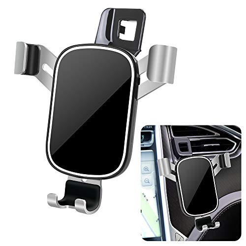 LUNQIN Car Phone Holder for 2016-2020 Tesla Model X and 2012-2021 Tesla Model S [Big Phones with Case Friendly] Auto Accessories Navigation Bracket Interior Decoration Mobile Cellphone Mount