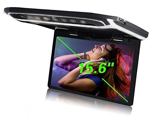 YMPA 39,6 cm 15 Zoll Inch TFT Full HD Deckenmonitor Monitor hohe Auflösung 1080 P mit USB Port SD Card Reader HDMI Anschluss für Bus Auto und Wohnmobil KFZ PKW LCM-FD15USB