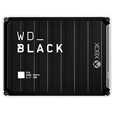 WD_BLACK 5 TB P10 Game Drive for Xbox One for On-The-Go Access To Your Xbox Game Library