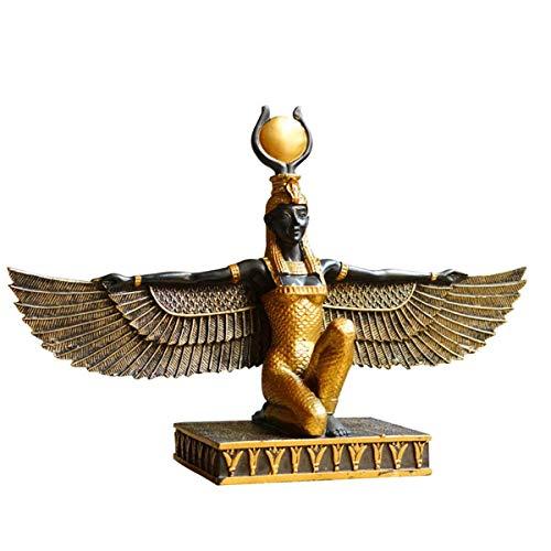 WSJF Hauptdekoration Statue ägyptische Göttin Isis Statue, ägyptische Dekors Ornamente Skulpturen Göttin der Schönheit Statue, Home Study Bürodekoration Geschenk-Dekoration