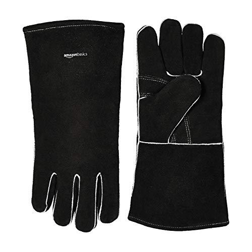AmazonBasics Welding Gloves, Black, 6-Pack