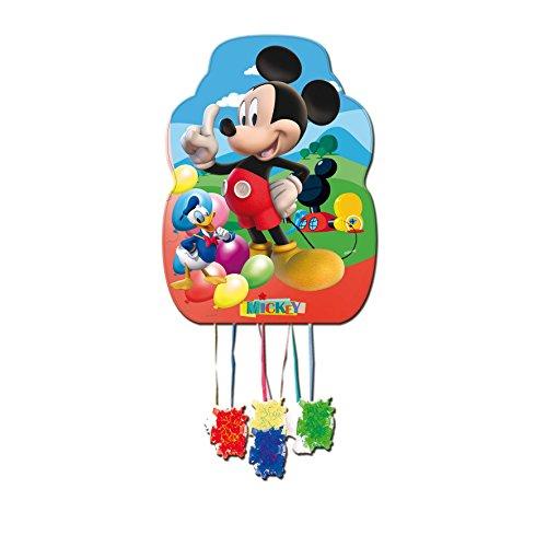 ALMACENESADAN 0840, Piñata Perfil Disney Mickey Mouse, Multicolor, para Fiestas y cumpleaños, Dimensiones: 33x46 cms