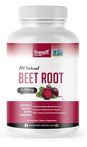 Organic Beet Root Capsules - Strongest DNA Verified 2400mg Per Serving - Vegan Friendly, Non GMO, Gluten and Soy Free